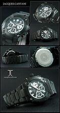 JACQUES CANTANI BUIO Horse cronografo orologio Designer ION nero placcato