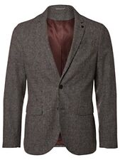 SELECTED HOMME - NEW - Micro Dogtooth Anton Wool Blend Grey Blazer - Chest 46""