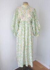 New listing Vtg 60s Kayser Pink Floral Babydoll Nightgown Dress Huge Puff Slvs Pockets Xs/S