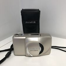 Olympus μ[mju:] Zoom 140 Tested Silver With Case - Point & Click Lomo