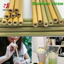 5 / 10pcs Bambus-Trinkhalme Wiederverwendbare umweltfreundliche Party-Getränke