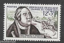 France 1956 12fr + 3fr Stamp Day vf m mint never hinged SG 1279