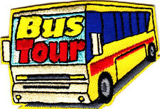 """BUS TOUR"" - VEHICLE - SCHOOL - TRIP - VACATION - Iron On Embroidered Patch"