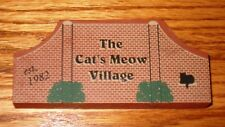 Cats Meow Village Sign Accessory New -