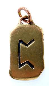 Rune Runen Anhänger Bronze Band/Kette Buchstabe P Perthro Würfelbecher Nr.100