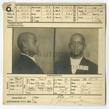 Police Booking Sheet - Everet Harris - Burglary 2nd, Larceny - Missouri - 1911