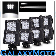 "8pcs 4"" Cree White 6 LED 18w Flood Beam Adjustable Off Road Roof/Work Light bar"