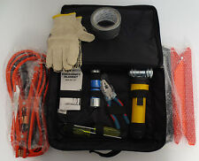 ROADSIDE EMERGENCY KIT CAR JUMPER CABLES TOOLS REFLECTOR FLASHLIGHT 999M1AT000