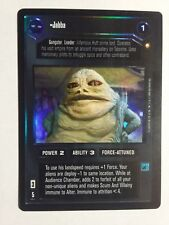 Star Wars SWCCG CCG Decipher 1x Reflections Foil Jabba Black Bordered x1
