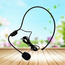 Wired Headset Microphone for Voice Amplifier Speaker Black Hand Collar Microfono
