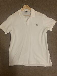 Paul Smith White Polo Shirt Size Large Men's