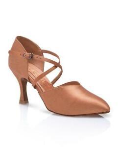 Capezio Jaime X-Strap Satin Ballroom Dance Shoes Pumps 9M Standard Smooth