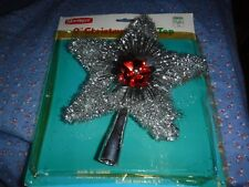 """Vintage JoyBrite 9"""" Christmas Tree Top Can Also Hang w/ Package Used"""