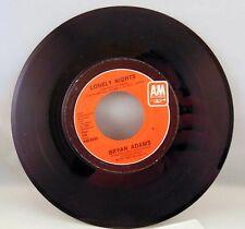 "Bryan Adams ""Lonely Nights"" vintage 45 record"