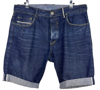 "ZARA JEANS |  Men's Button Fly Distressed Denim Shorts | Size 34"" Waist"