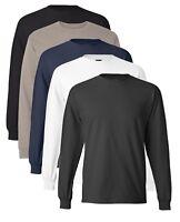 Hanes Poids Lourd Coton Manches Longues Beefy T-Shirt Avec Poignets