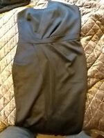 New Boohoo Black plus fold Wrap Dress, Size 16