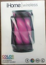 iHome IBT70B Wireless Color Changing Rechargeable Bluetooth Speaker