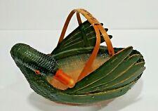 MCM Zhegiang Handi Crafts Wicker/Wood Duck Basket For Ben Rickart