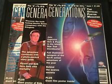 Star Trek Generations Official Poster Magazines 1995 Issues 1, 2, 3. Ex Cond