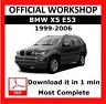 >> OFFICIAL WORKSHOP Manual Service Repair BMW Series x5 E53 1999 - 2006