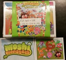 MOSHI MONSTERS, (GREEN) FULL SET OF STICKERS X238 +ALBUM
