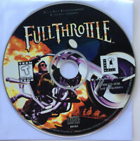 FULL THROTTLE LUCAS ARTS PC VIDEO GAME CD-ROM IBM Lucas Film Windows 98 XP