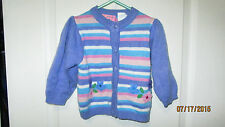 Baby Toddler 18M Cradle Togs Button Down Front Knit Acrylic Sweater Shirt Top