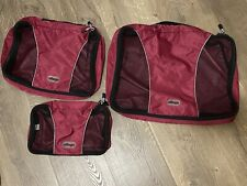 eBags 3 Piece Packing Cubes Set - Red