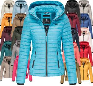 Marikoo Damen /Übergangsjacke Steppjacke mit Kapuze gesteppt 21 Farben XS-XXL Samtpfote
