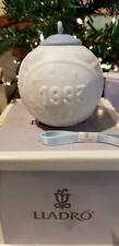 1993 Lladro Jasperware Porcelain Christmas Ball Ornament W/Box Mint Condition