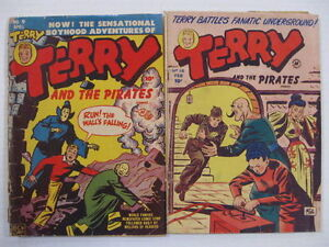 TERRY AND THE PIRATES LOT 6 COMICS Guide $97
