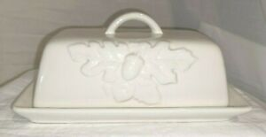 Large Butter Dish Cheese Plate Happy Harvest By Belle Maison Acorn Oak Leaves