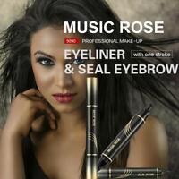 MUSIC ROSE Eyebrow Pencil Eye Brow Eyeliner Pen With Brush Makeup Cosmetic Tool