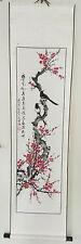 """asiatisches Rollbild Wanddeko Tuschmalerei """"Hanami"""" HANDGEMALT 150x40cm #02i"""