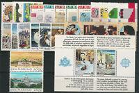 SAN MARINO - Annata completa 1989 (23 val. + 1 BF) nuovi