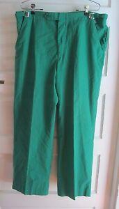 Vintage LL Bean Mens Green Golf Pants 34 Adjustable Waist Made in USA Loud
