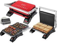 Acier inoxydable gril sandwich Grille-pain toast Barbecue Grill de table Grill électrique NEUF