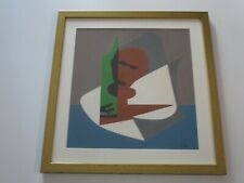 MID CENTURY CUBISM CUBIST PAINTING ABSTRACT CALIFORNIA FRANCE MODERNIST SEGEL