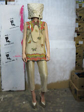 Mr Dino 2Teiler Top Hose Gold Glitzer 70er TrueVintage 70s two piece shirt pants
