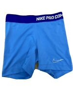 Nike Dri-Fit Pro Combat Women's Size XS Blue Compression Athletic Shorts