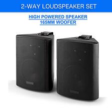 NEW PASSIVE SPEAKERS PAIR 120w WALL MOUNT BRACKETS 2 WAY BOOKSHELF STEREO DJ PA