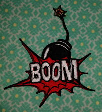 2019 BOOM Comic Word Fighting Bomb Marve embroidered  Sew Iron On Patch