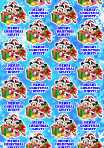 MICKEY AND MINNIE Personalised Christmas Gift Wrap - Mickey Mouse Wrapping Paper