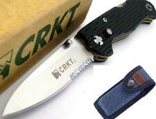 CRKT Lake 111 Lockback Safety Lock Zytel Hdl Knife Denim Sheath CLAM PACK 7256Z