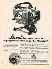 PUBLICITE ADVERTISING  1963    BEAULIEU  projecteur automatiques 8mm