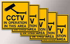 5 CCTV SECURITY STICKERS FOR YOUR HOME OR WORK v002