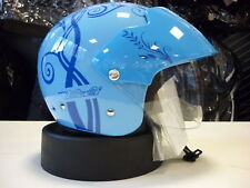 CASCO AGV NEW BALI TREE LIGHT BLUE L AGV JET HELMET HELM CASQUE