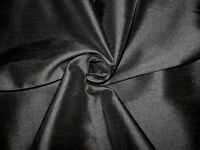 "poly shantung fabric, Color Black, Sold by the yard, 58"" wide,  Drapery."