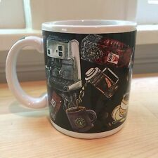Starbucks Coffee Mug - Illustrated Cafe Scene / Print / Coffee Culture